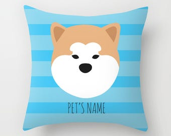 Akita Pillow, Akita Cushion, Decorative Akita Cushion - Dog Pillow, Dog Gift, Custom Dog Name Pillow
