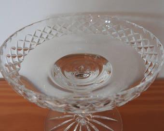 Crystal pedestal compote serving dish/bowl