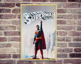 Superman poster. Movie poster. Christopher Reeve poster.