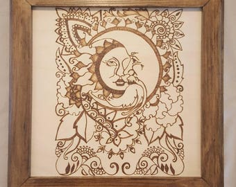 Frame for pyrography art pieces