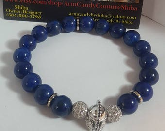 1 Cobalt Blue Stretch Bracelets
