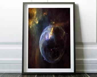 The Bubble Nebula / Space poster / Nebula print art / Space art / Space print / Outer space / Space wall decor / Astronomy print / Hubble