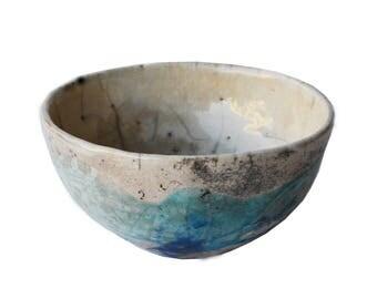 pottery ceramic raku, bowl cm.8x13diameter