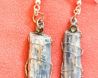 """Shades of Blue Collection """"Kyanite"""" Earrings"""
