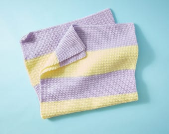 Light Lilac & Baby Yellow Baby Blanket