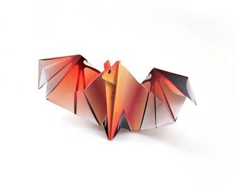 Origami Batt - Red - Printable paper