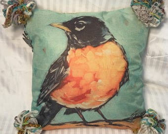 Charming Robin- Pillow Cover