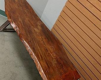 Reclaimed Industrial Hemlock Slab Coffee Table