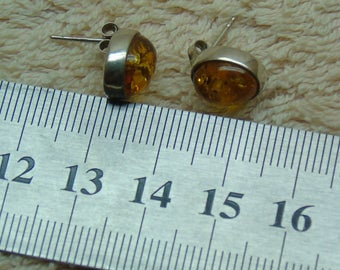 Old earrings with amber of the USSR (14)