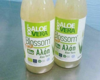Buy 1 and get 1 for Free, Organic Fresh 100% Aloe Vera Juice 500ml, shipping next day  via DHL with special fridge