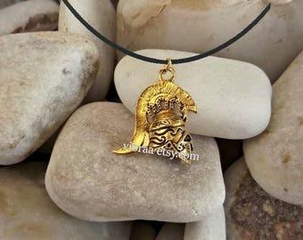 Goddess Athena Athenian Helmet Necklace Pendant