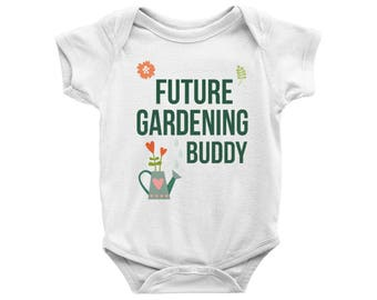 Future Gardening Buddy Onesie, Future Gardening Buddy Bodysuit, Garden Onesie, Mother's Day Gift, Baby Shower Gift, Baby coming home