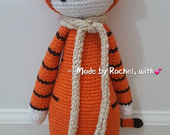 Crochet Tiger--Inspired by Lalylala