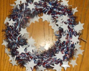 Star Red, White & Blue Wreath