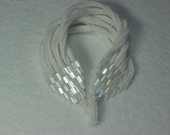 White Twisted Bracelet