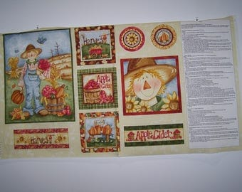 Happy Harvest Collection Panel witCoordinating Fabric