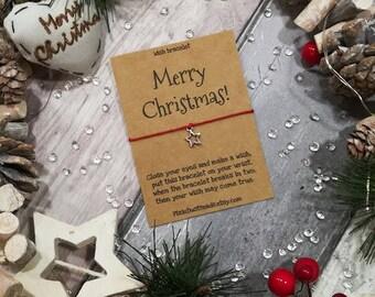 Merry Christmas Wish Bracelet, Christmas Wish Bracelet, Christmas Gift, Christmas Wish, Merry Christmas, Holiday Gift, Xmas Gift, Christmas
