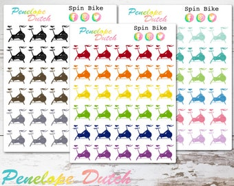 Spin Bike Exercise Planner Stickers