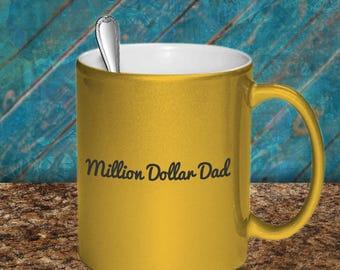 Gold Ceramic Father's Day Mug