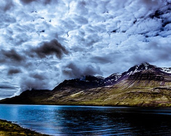 Iceland - Stormy skies over mountain