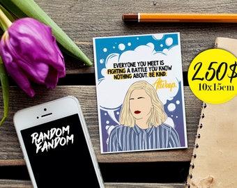 Skam, Skam postcard, Noora sætre, Fandom Postcards, Feminism, Postcards