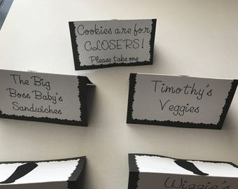 Boss Baby Food Signs Decor