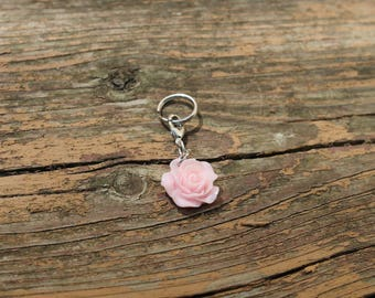 Pink Rose Bridle Charm