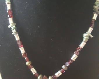 Heart-shaped African Blood Stone pendant