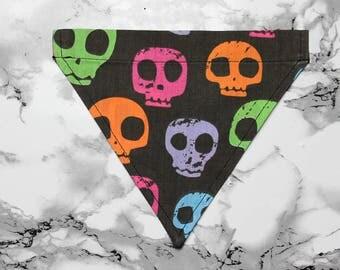Individual Dog Bandana - Multi Colour Skulls
