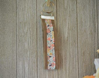 Flower Key Fob, Key Ring, Key Chain, Wristlet