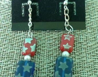 Americana Red White and Blue earrings
