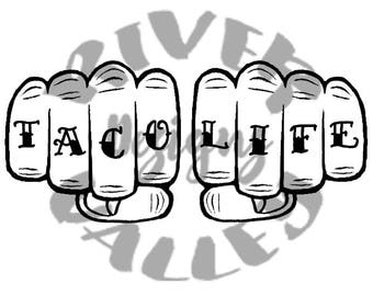 taco life SVG, PDF, JPG printable, cuttable, cutting file, Taco Lovers, cricut, cameo
