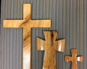 Small handcrafted wooden cross