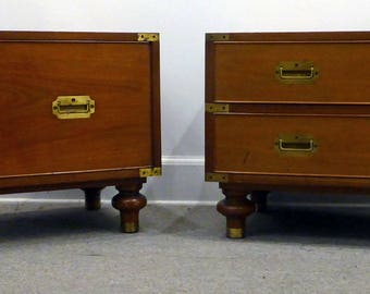 Wonderful Pair of Mid Century Campaign Chests