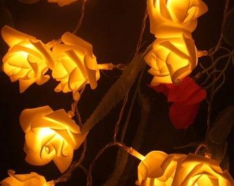 Eents and Parties 2M 20LED Rose LED String Lights Battery Wedding Birthday Decoration Lightings Rosa LED Guirlande Lumineuse