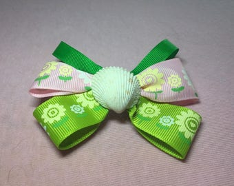 cute floral ooak hair bow