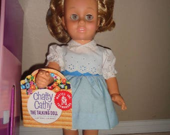 Chatty Cathy 1998 NEW With Paperwork Outfit And Box Works Perfectly Still Wearing her Hairnet