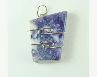 Violet Flame Opal™ wire wrapped Pendant #704