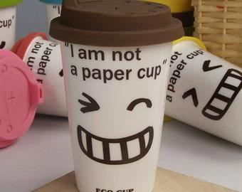 Porcelain and Silicone travel mug