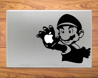 Super Mario Bros Macbook Decal Stickers Mac Pro / Air / Retina Sizes 13 / 15 / 17 Laptop
