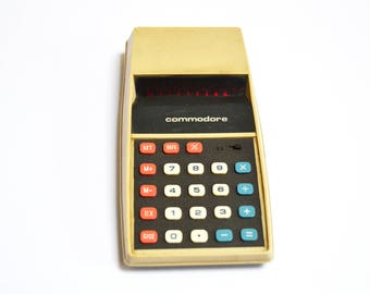 Vintage Commodore Electronic Calculator // Retro Office Tech Collectible Gift