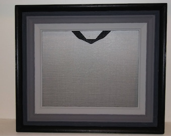 Black and Gray Ombre Earring Holder