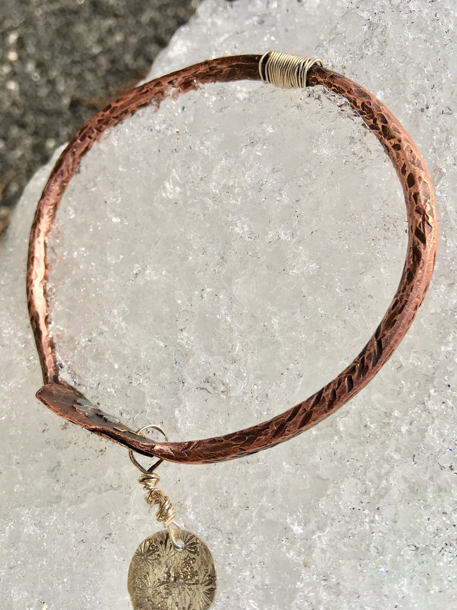 7 Gauge Pure Copper Bangle | Women\'s Wire Jewelry | Handmade ...