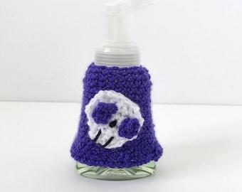 crochet soap cozy halloween soap cozy crochet soap saver purple soap cozy - Halloween Bathroom Decor