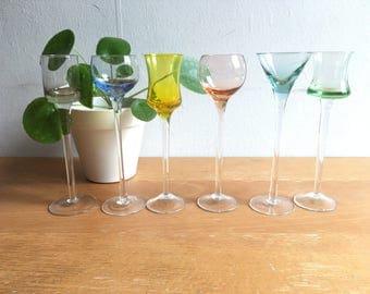 Vintage Long Stem Shotglasses (set of 6)