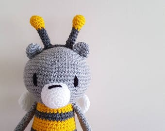 Made to Order Bee Bear Cuddle Sized Crochet Friend