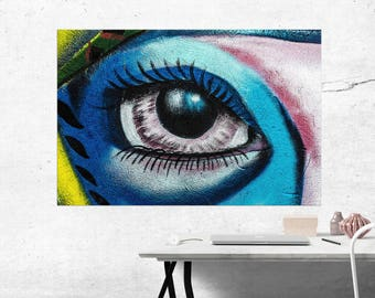 Abstract Eye Canvas Print, Abstract Eye Wall Art