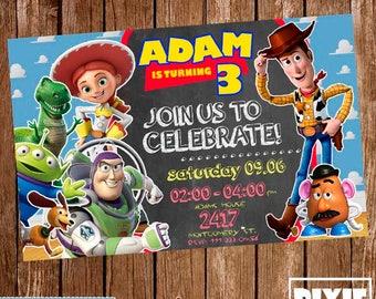 Toy Story Invitation, Toy Story Birthday Invitation, Toy Story Printable Invitation, Toy Story Printable Party, Toy Story Birthday Card