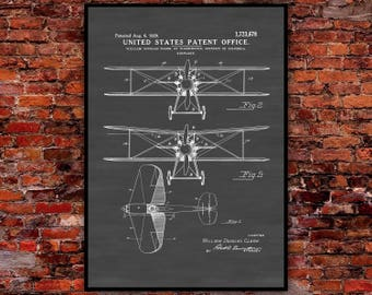 Patent poster etsy airplane patent poster vintage airplane airplane blueprint airplane wall art pilot gift malvernweather Gallery