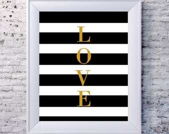 Love Sign | Love Art | Love Artwork | Love Decor | Love Gifts | Black and White Prints | Black and White Wall Art | Digital Art | Printable